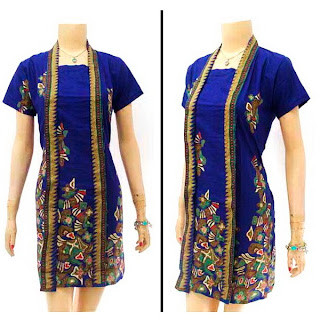 DB2900 - Mode Baju Dress Batik Modern Terbaru 2013