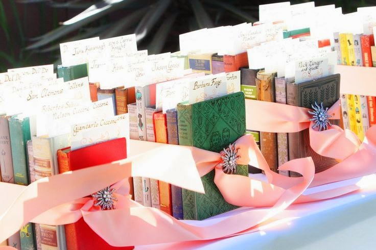 http://www.intimateweddings.com/blog/second-hand-books-as-wedding-favors/