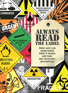 Workplace safety label posters
