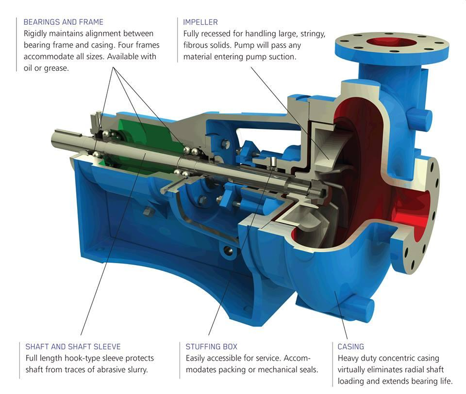 Mechanical Engineering  Centrifugal Pump Cutaway With Parts