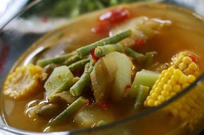 Sayur Asem Kacang Terong Jagung Labu Siem Campur campuran sayur asem campursari sayur asem resep sayur asem campur daging