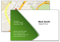 Show where you are located with a map on your business card