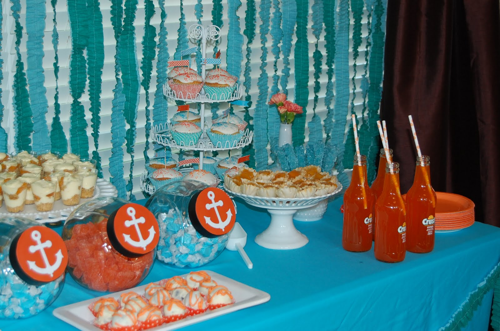 beansie ink client photos turquoise and orange nautical baby shower