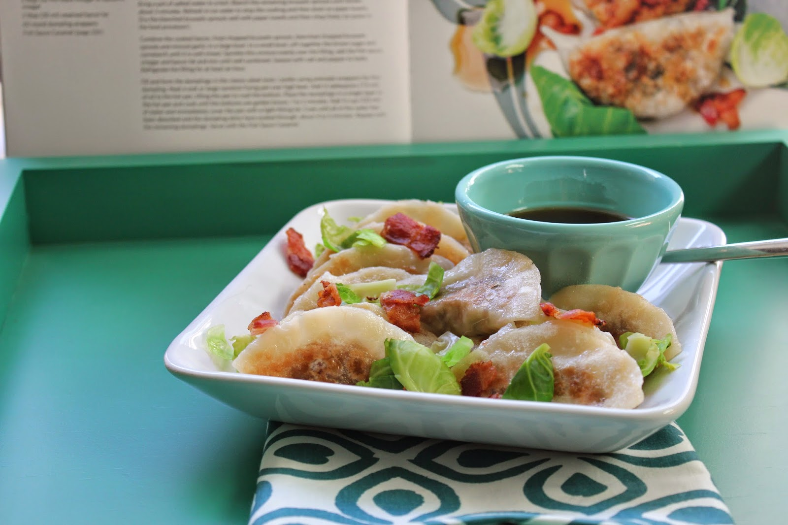 Brussels sprouts and bacon dumplings