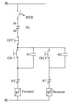 Cara membalik putaran motor induksi 3 fasa (forward reverse ...