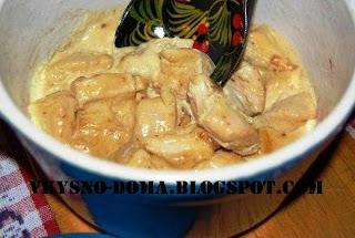 Курица в сливочно-горчичном соусе