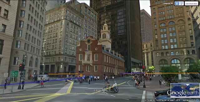 Old State House, Boston, Massachusetts, postcard, lion, unicorn, time capsule