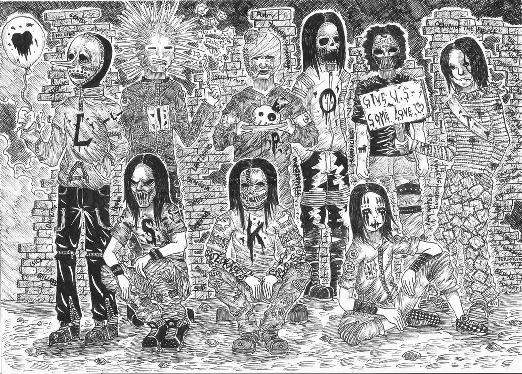 Top Slipknot Masks Coloring Pages Images For Pinterest Tattoos Slipknot Coloring Pages