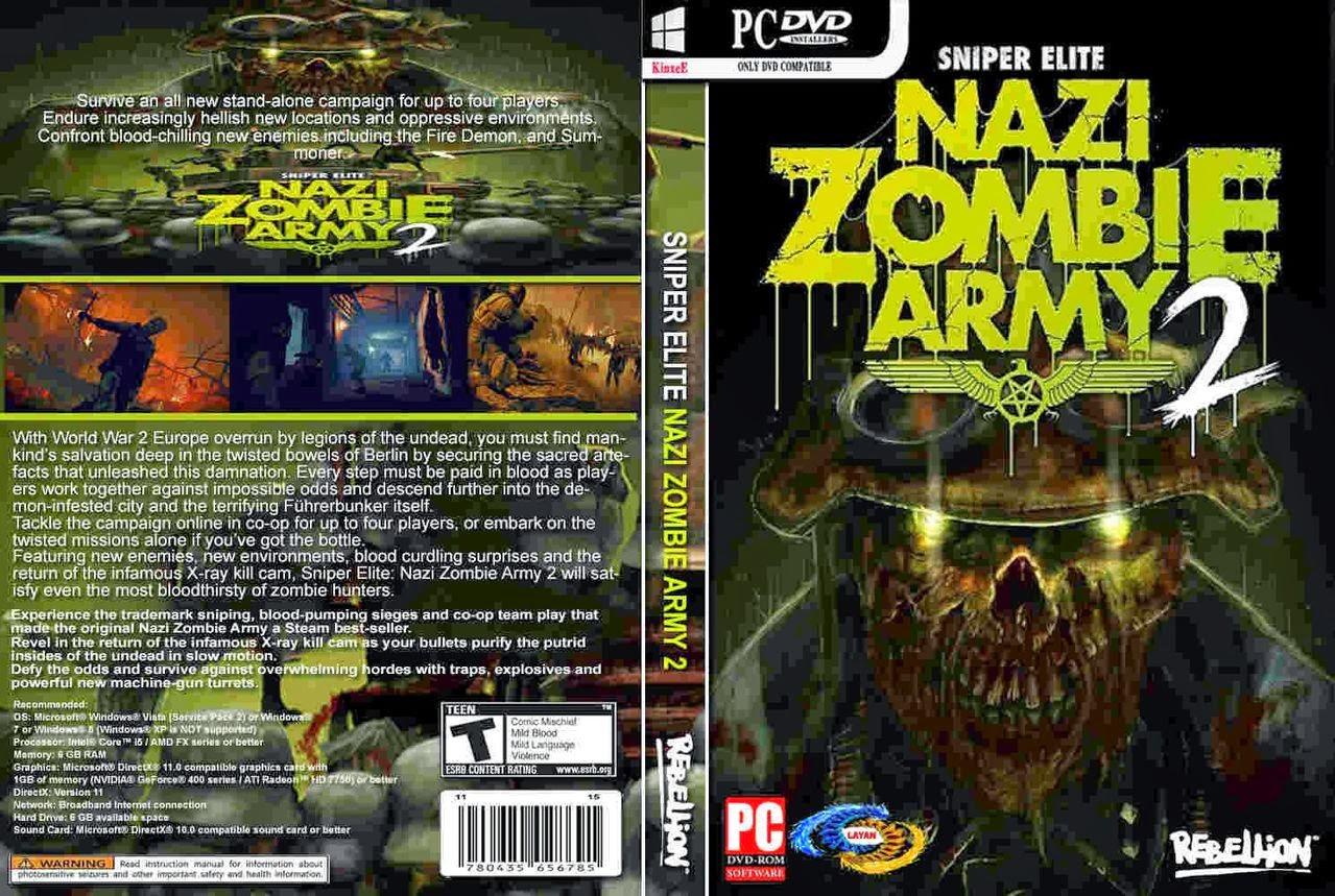 تحميل لعبة Sniper Elite Nazi Zombie Army 2 برابط واحد مباشر