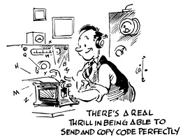 Amateur code oscillator radio
