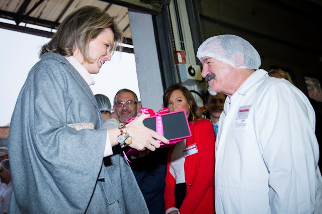 Queen Mathilde of Belgium visited to the Vanparys chocolate