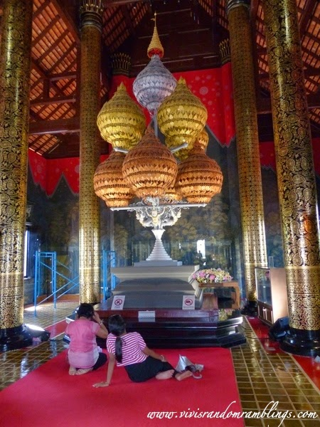 inside the Royal Pavillion at Royal Flora Ratchaphruek Chiang Mai