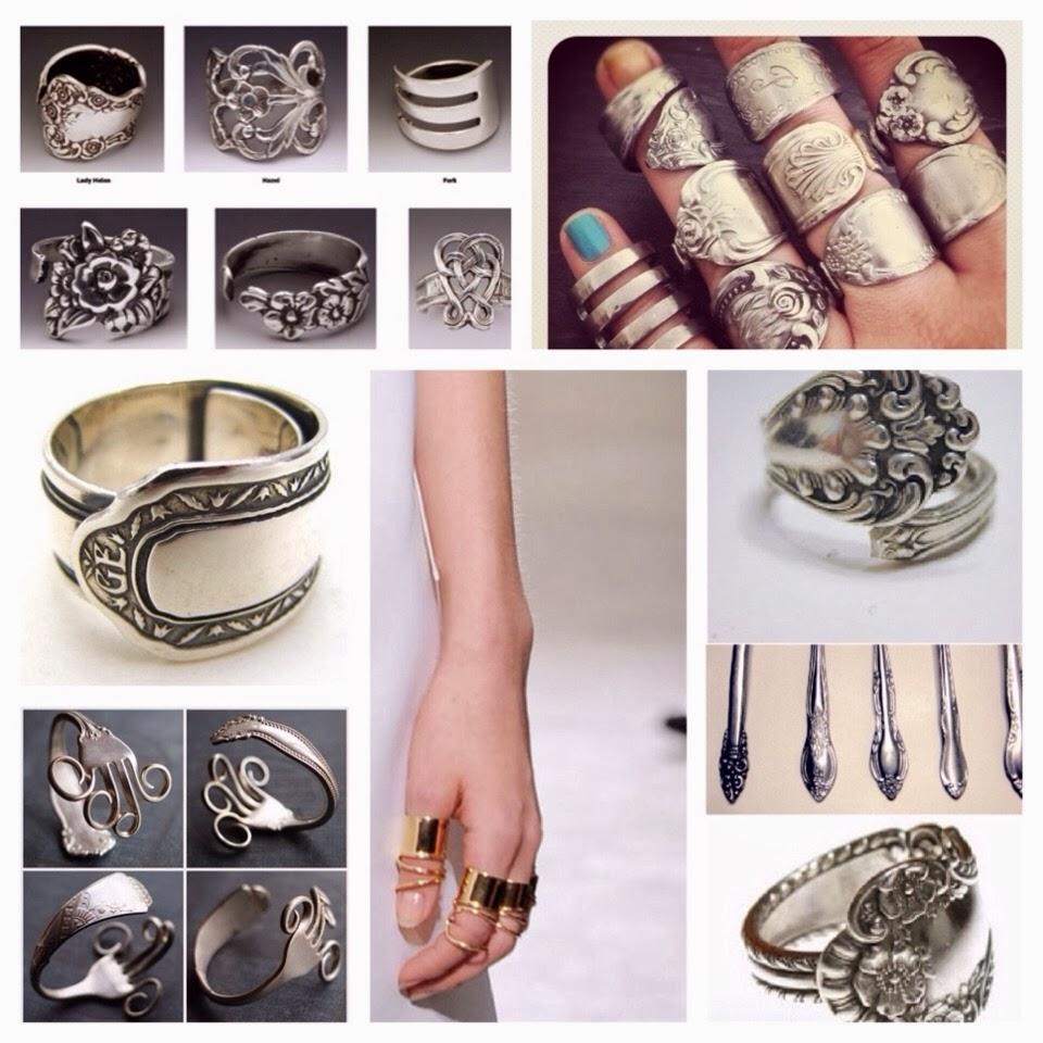 how to make silverware jewelry rings