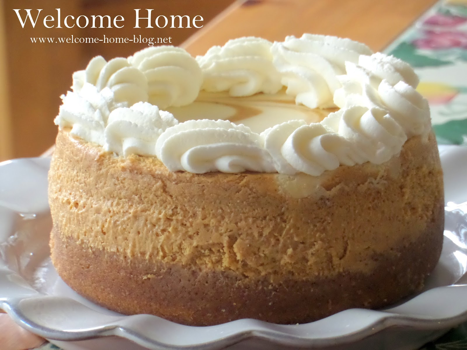 Welcome Home Blog Pumpkin Swirl Cheesecake