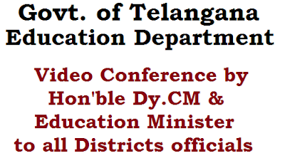 Video Conference, Telangana School Education