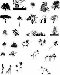 Árvores vetorizadas grátis
