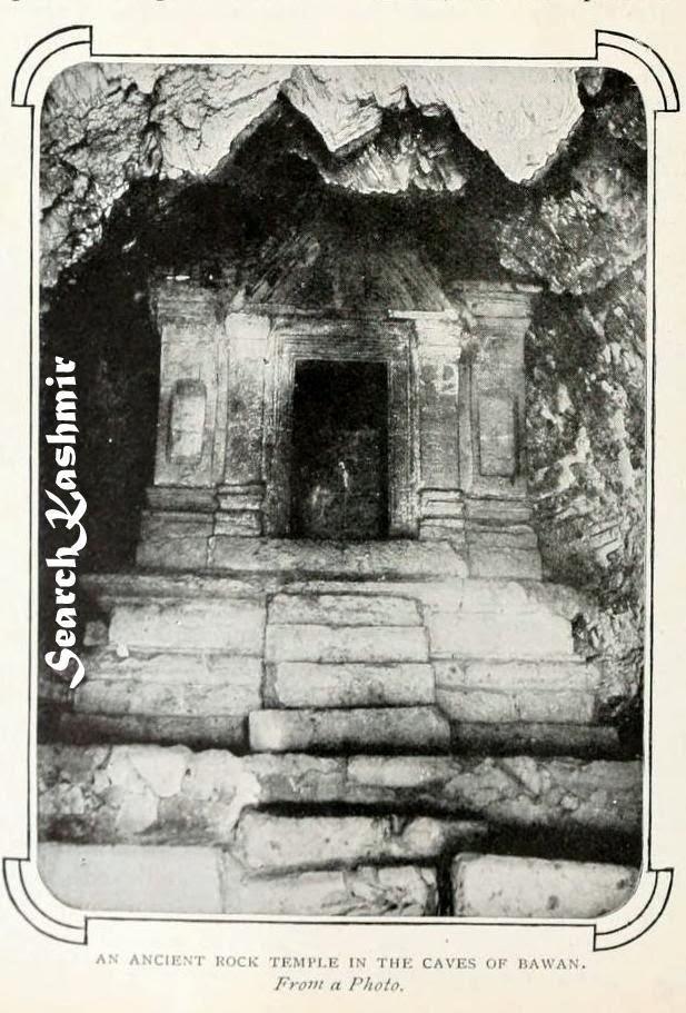 Bumzu cave Temple, Bhawan  Kashmir 1902