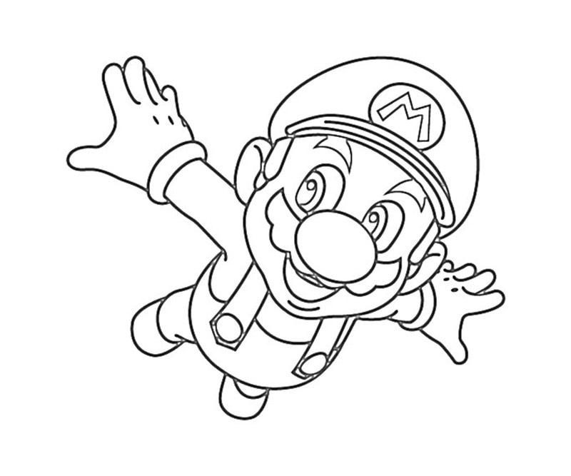 #5 Super Mario Coloring Page
