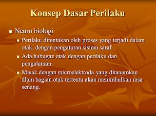 PPT Psikologi Pendidikan (Konsep Dasar Perilaku)