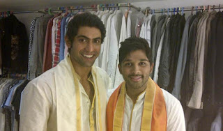 Rana and Allu Arjun at Ram Charan Wedding Photos