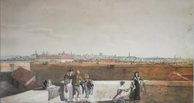 'Buenos Aires vista desde Retiro' Acuarela de 'Vidal'(1819)Tomado de Pinacoteca Virtual Sanmartiniana, de don Jorge César Estol