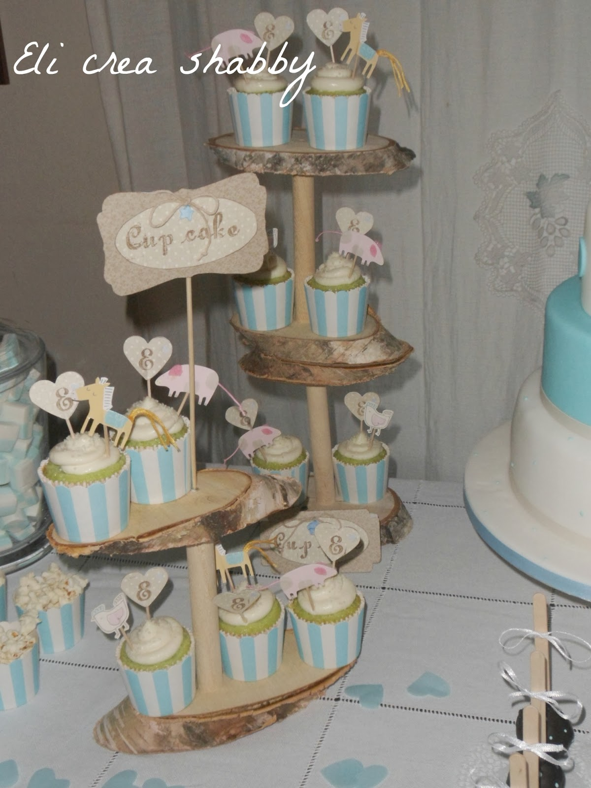 Eli crea shabby & co.: sweet table per un battesimo