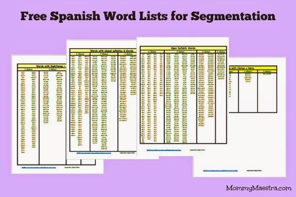 http://www.mommymaestra.com/2014/07/free-spanish-word-lists-for-segmentation.html?utm_source=feedburner
