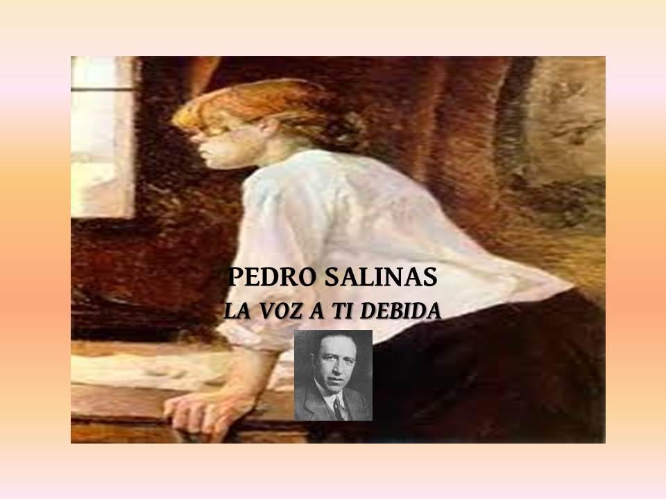 """CLUB DE LECTURA DE ADULTOS """"JOSÉ BECEIRO"""". PEDRO SALINAS. LA VOZ A TI DEBIDA"""
