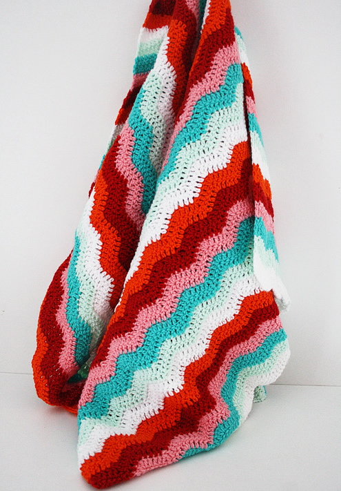 Ripple stitch crochet blanket