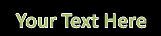 effect outline pada teks