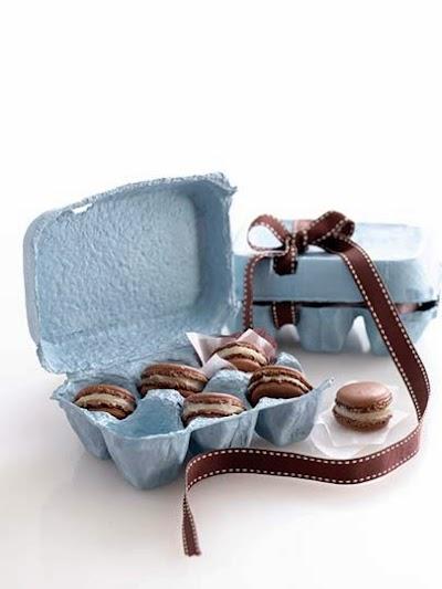Baharatlı çikolata ve bademli makaron