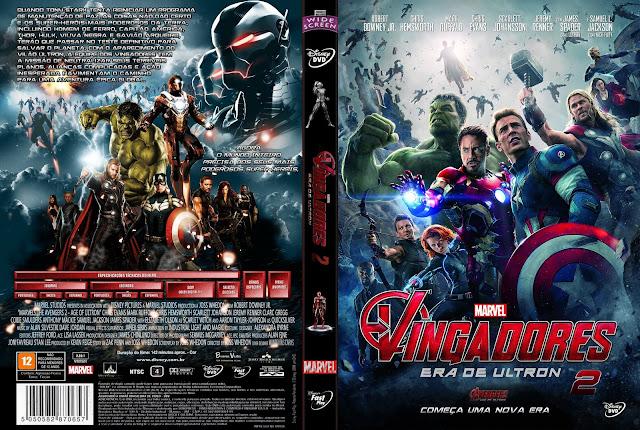 Capa DVD Os Vingadores 2 A Era De Ultron