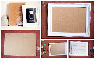 One+Frame+Three+Ways+How+To DIY Tutorial | Gilt Frame Memo Board | One Frame Three Ways