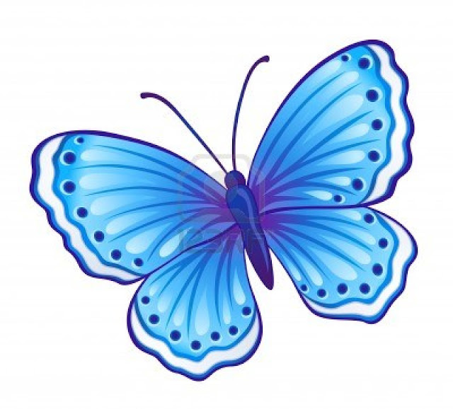 vector blue butterfly polyommatus icarus with open wings