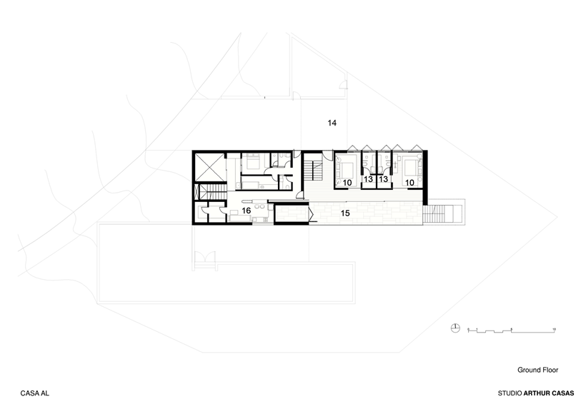 Ground floor plan of modern dream home in Rio