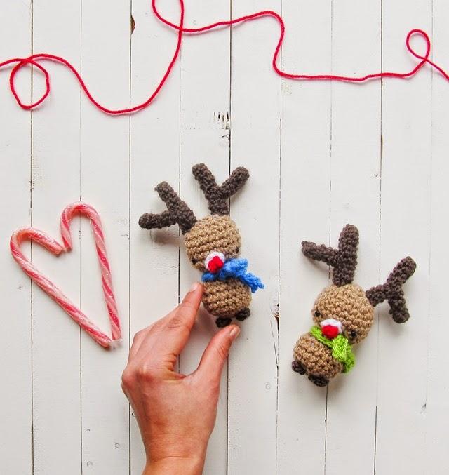 free crochet pattern amigurumi rudolph