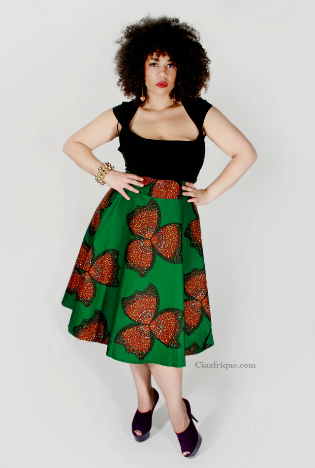 robe en pagne africain= plus size african print dress dear curve