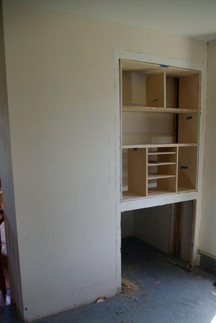 Corner Built in Shelves