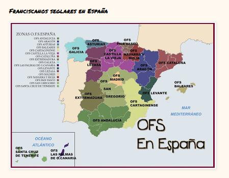 FRANCISCANOS SEGALRES EN ESPAÑA