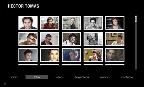 página web oficial del actor HECTOR TOMAS, diseñada por pepeworks