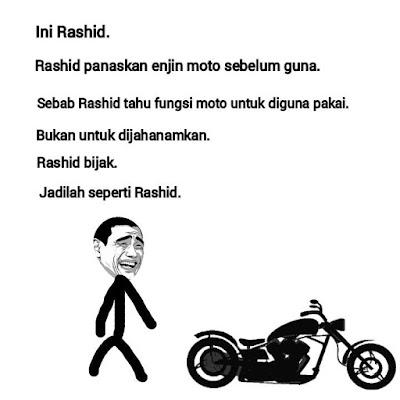 Lawak Rashid Dengan Naik Motor