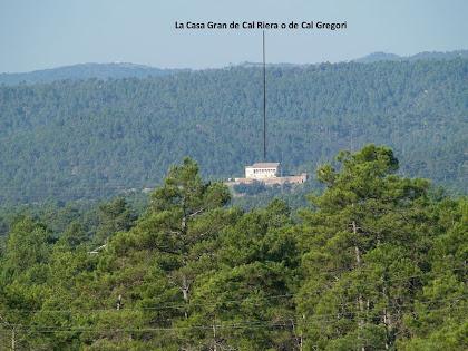 La Casa Gran de Cal Riera vista des del Vilaró
