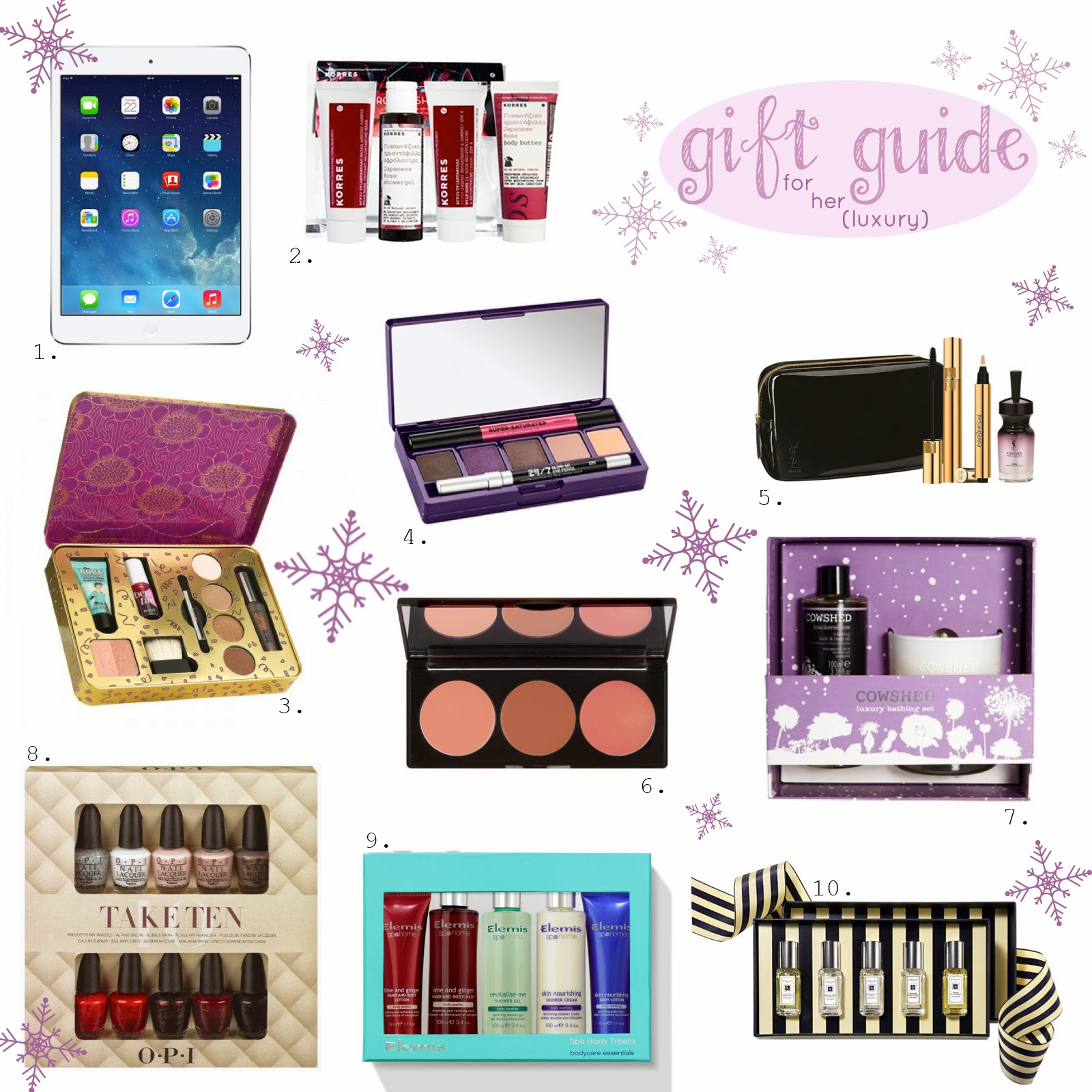 Laura 39 s land of beauty christmas gift guide 2013 for for Luxury gifts for her
