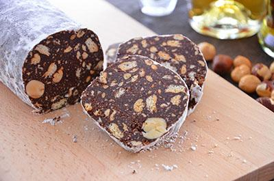 Salame di cioccolato senza uova