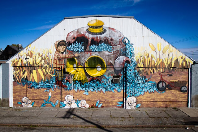 Street Art By Pixel Pancho For Wall Therapy 2013 In Rochester, USA.