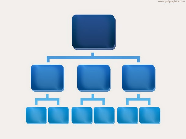 Organization Chart Icon PSD