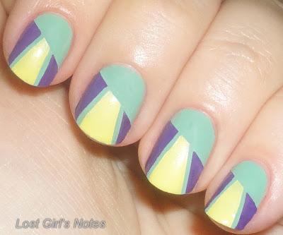 geometric cinco de mayo manicure