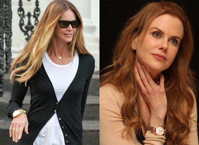Fotos de Elle Macpherson y Nicole Kidman con relojes dorados