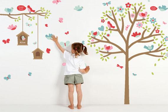 dekorasi kamar anak dengan sticker | sci pusat
