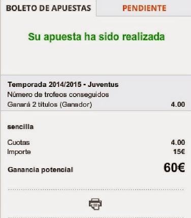 Apuestas Deportivas Juventus Fútbol-Italia Luckia